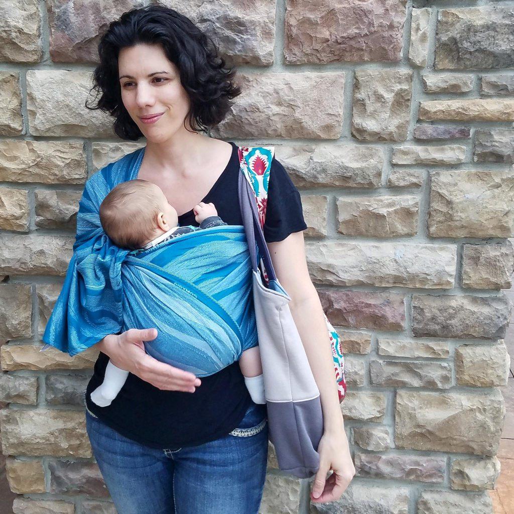 Didymos Waves Aqua Silk Woven Baby Wrap   Birdie's Room