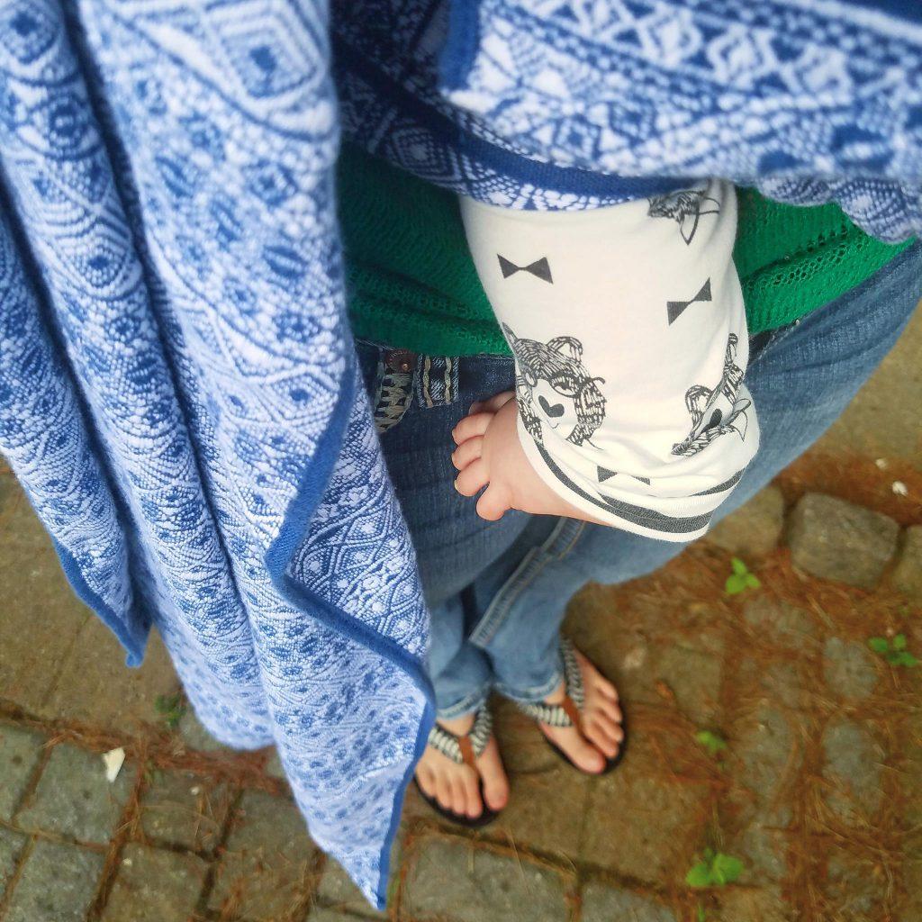 Didymos Prima Blue/White Woven Baby Wrap   Birdie's Room