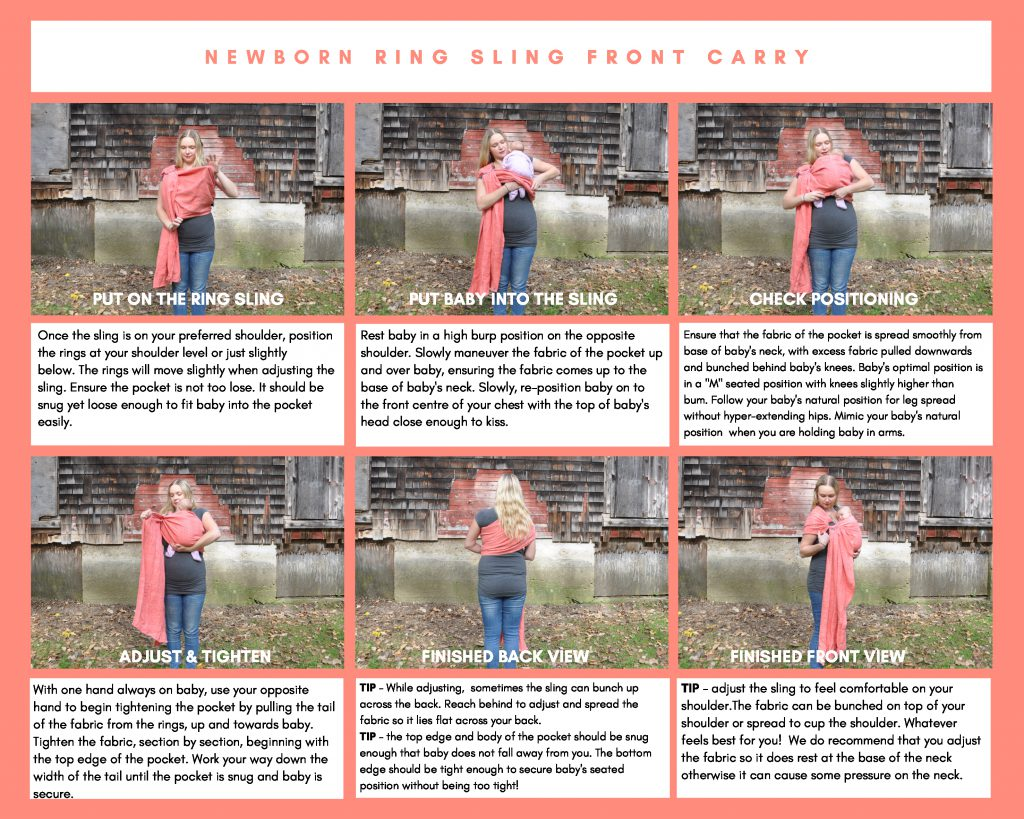 Newborn Ring Sling Front Carry