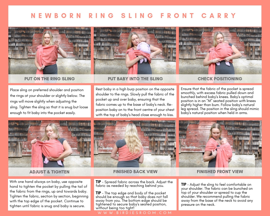 Ring Sling with Newborn Tutorial